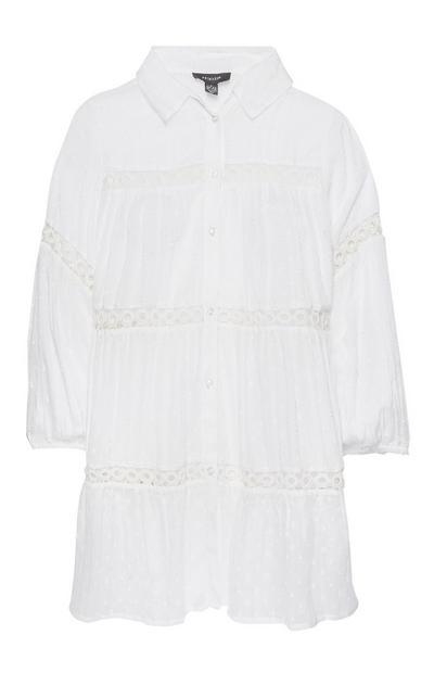 White Pretty Insert Shirt