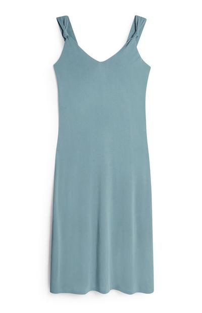 Blue Knot Midi Tank Dress