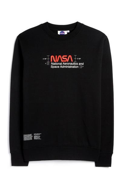 Jersey negro de cuello redondo de la NASA