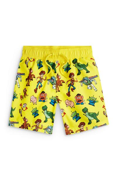Younger Boy Yellow Toy Story Characters Swim Shorts