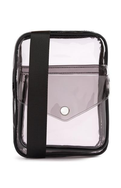 Black Perspex Messenger Bag