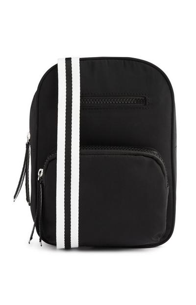 Black Nylon Sling Bag