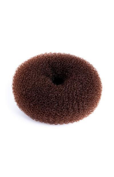 Mittelbrauner Haar-Duttkissen