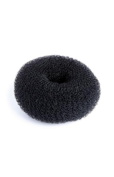 Black Medium Hair Donut
