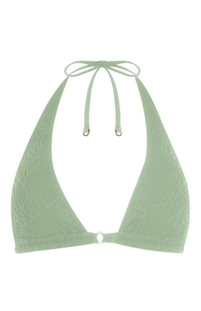 Light Green Triangle Bikini Top