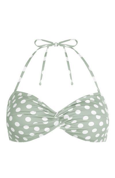 Light Green Moulded Triangle Bikini Top