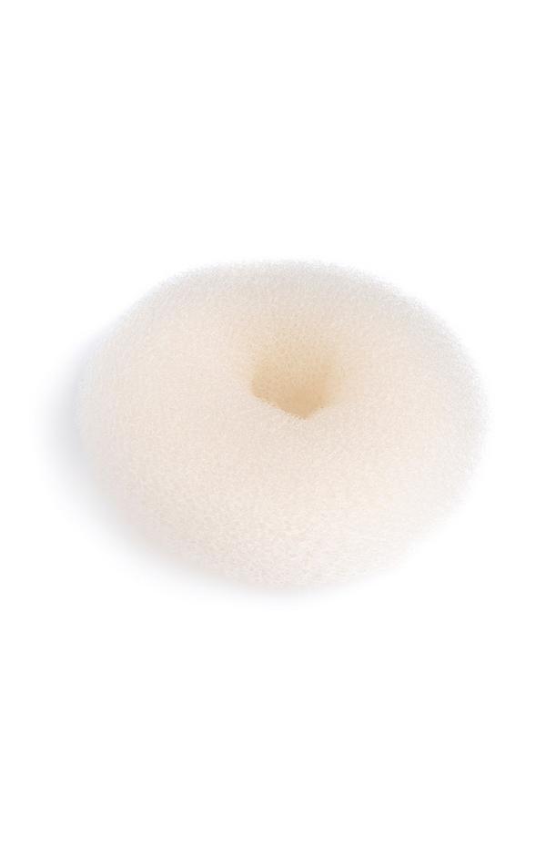 Großer Haar-Duttkissen in Weiß