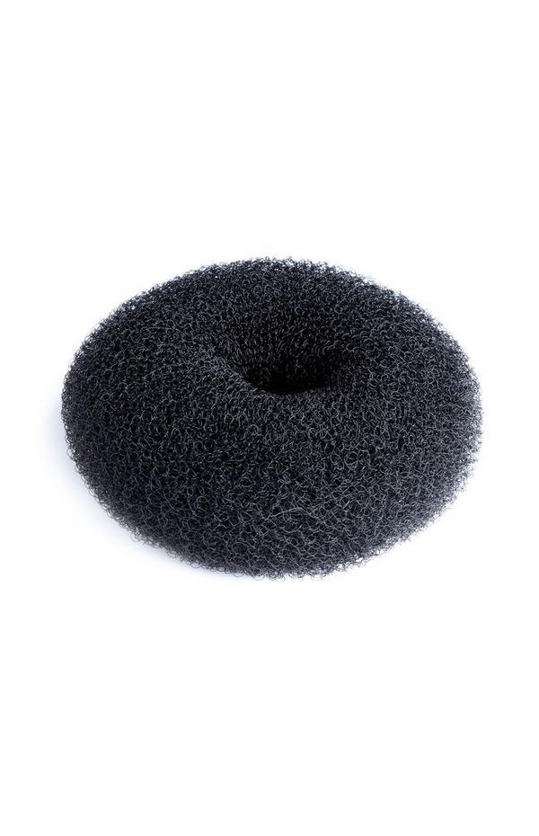 Großes Haar-Duttkissen in Schwarz