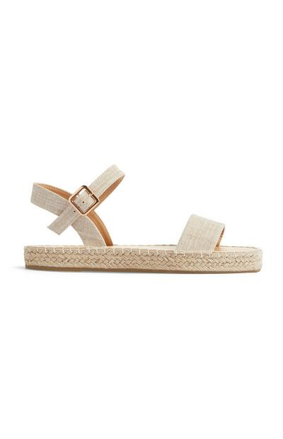 Sandali panna in lino