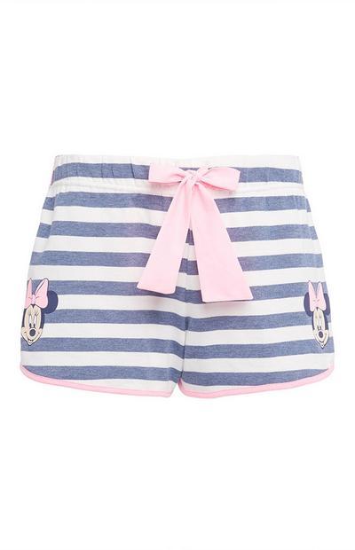 Minnie Mouse Striped Pyjama Shorts