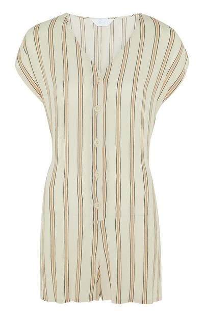 Striped Woven Playsuit