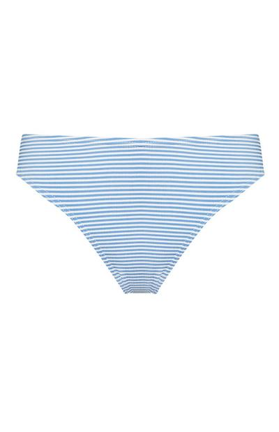 Blue And White Seersucker Bikini Briefs