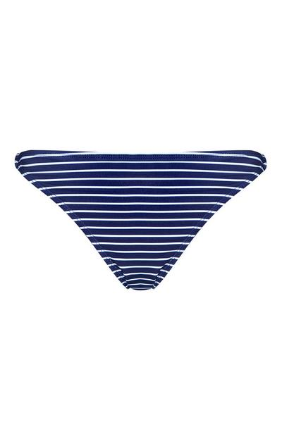 Blue Striped Bikini Briefs