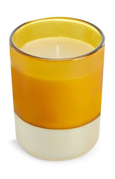 Orangefarbene Kerze