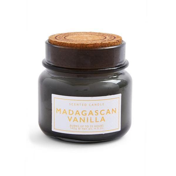 """Kleine """"Madagascan Vanilla"""" Duftkerze mit Korkdeckel"""