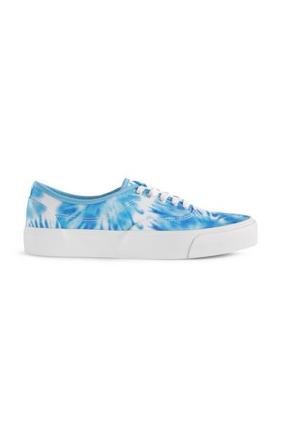 Baskets bleues tie and dye
