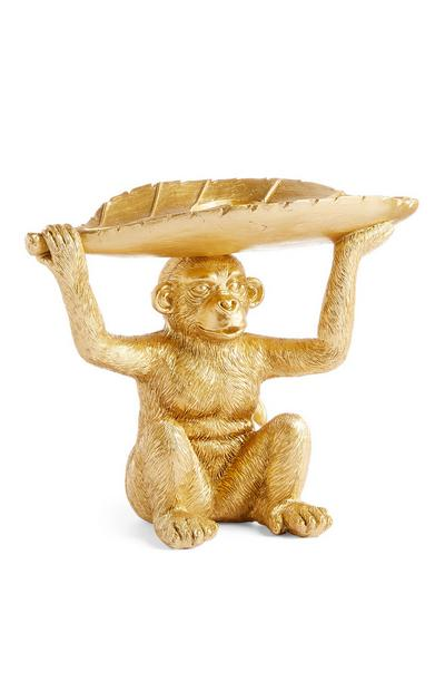 Golden Monkey Leaf Tealight Holder