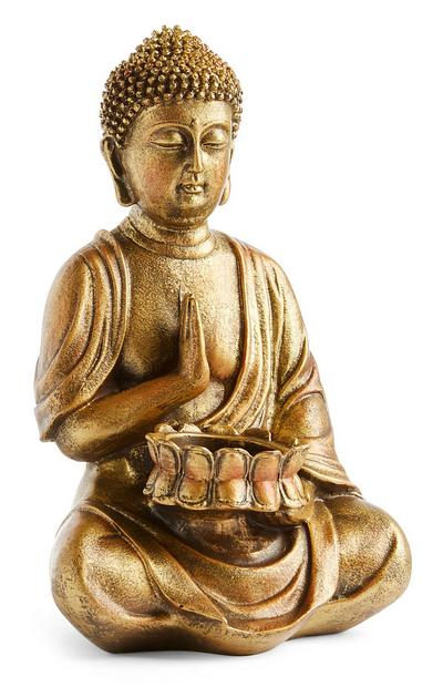 Large Golden Buddha Tealight Tolder