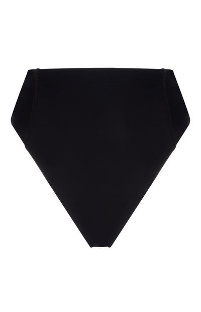 Black High Waisted Bikini Briefs