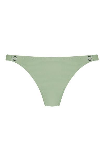 Olive Green Popper Bikini Briefs