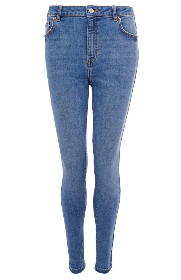 Blue High Waist Skinny Jeans
