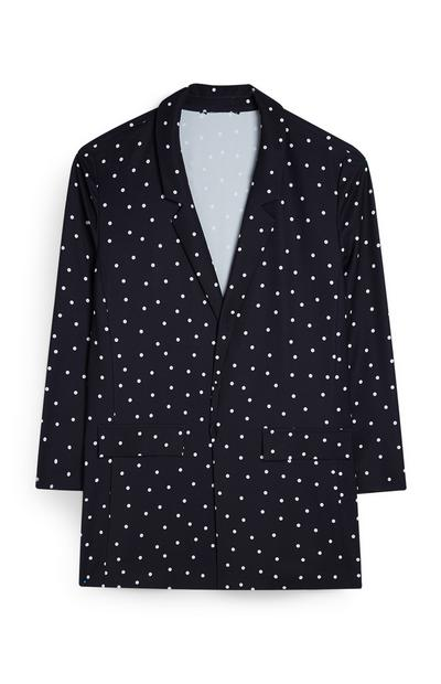 Black And White Dotted Blazer