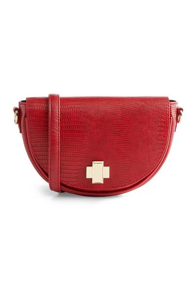 Red Croc Print 3-Way Bag