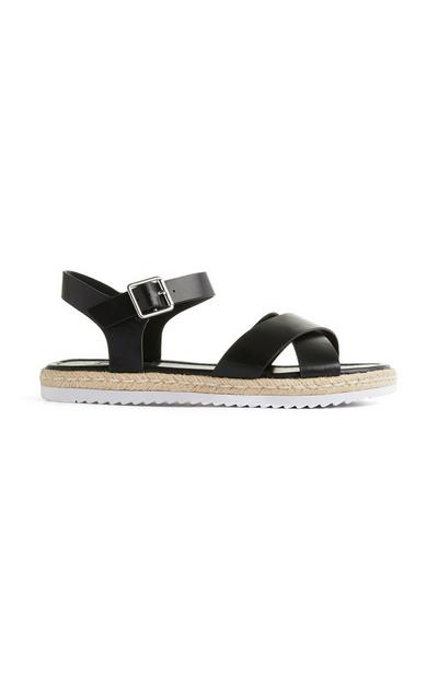 Black Ankle Buckle Espadrilles