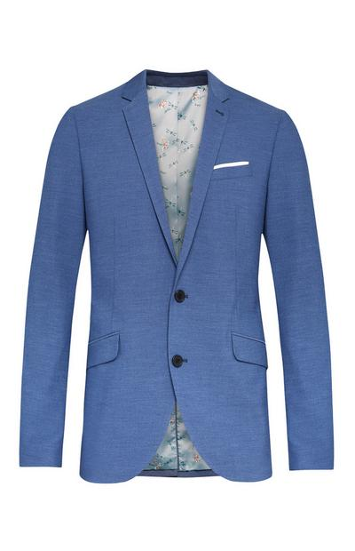 Blue Dragonfly Lining Stretch Suit Jacket