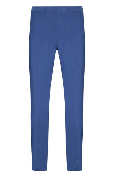 Blue Stretch Formal Trousers