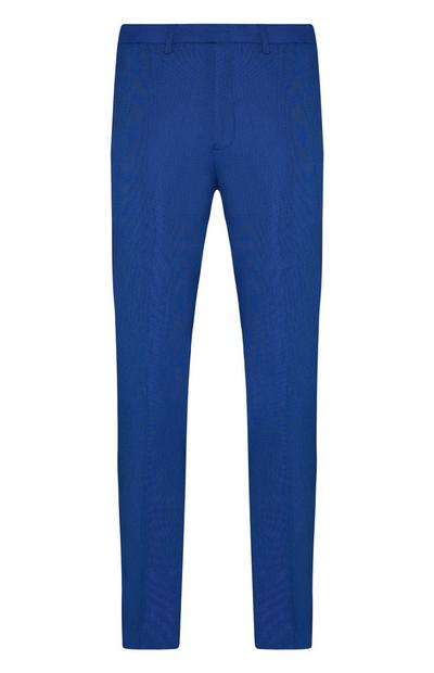 Bright Blue Micro Texture Suit Trousers