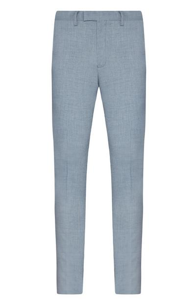 Grey Stretch Formal Suit Trousers