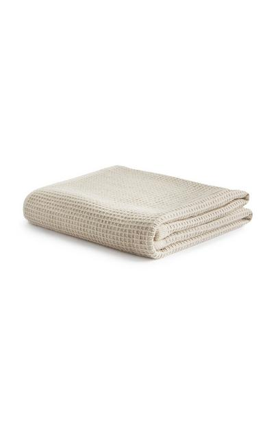 Cream Waffle Towel