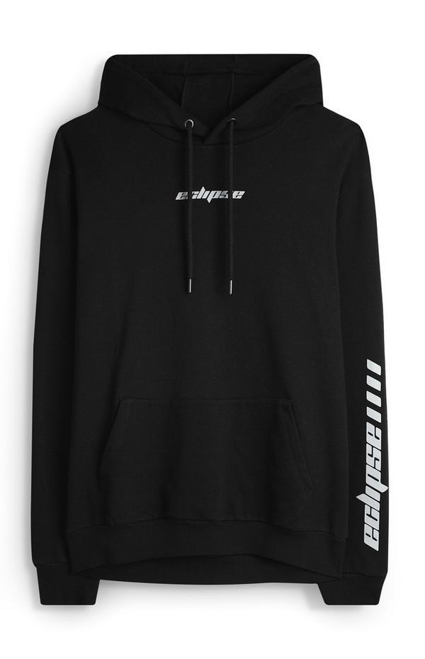 Zwarte reflecterende Eclipse-hoodie