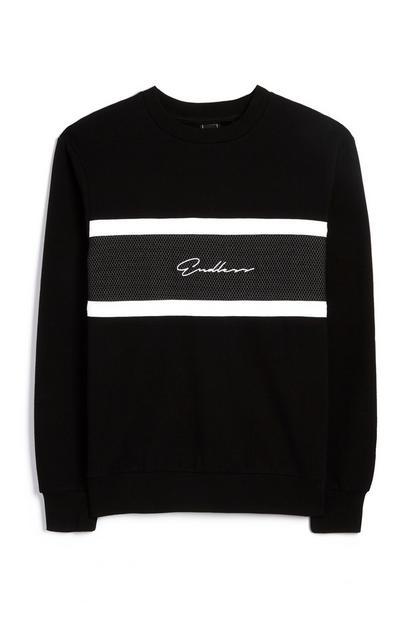 Black And White Crew Neck Sweatshirt