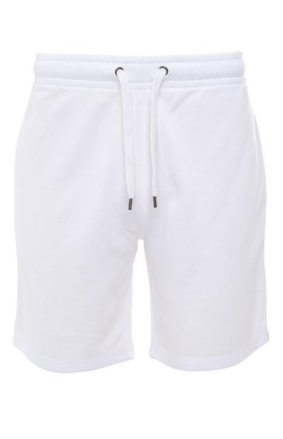 Pantalón corto básico blanco con cordón de ajuste