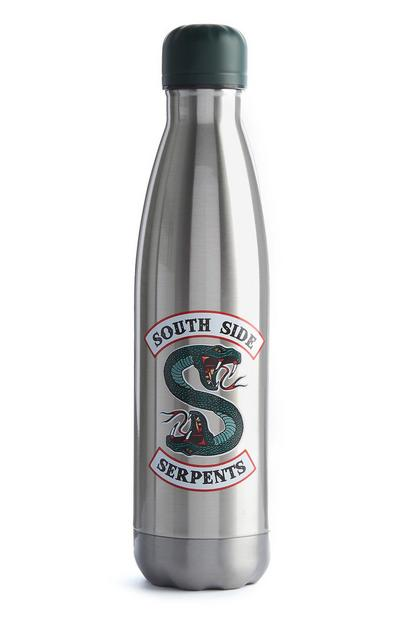 Botella de agua plateada Riverdale South Side Serpents