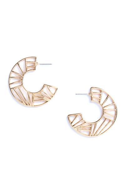 Geo Cutout Hoop earrings