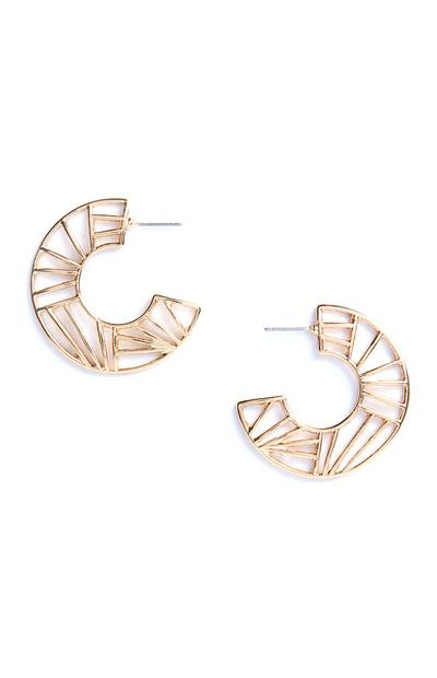 Geo Cutout Hoop earrings