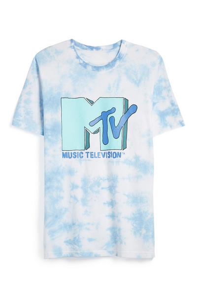 MTV Logo Tie Dye Blue T-Shirt