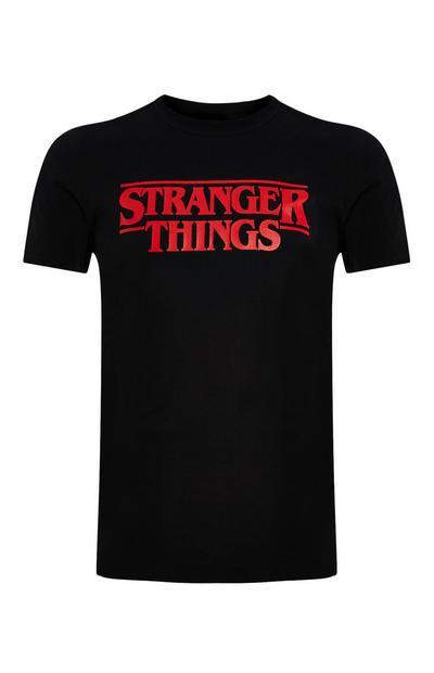 Črna majica Stranger Things