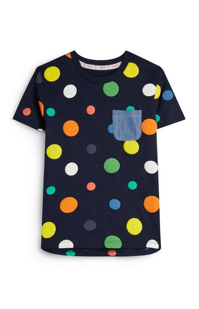 Stacey Solomon Baby Boy Navy Spotted T-Shirt
