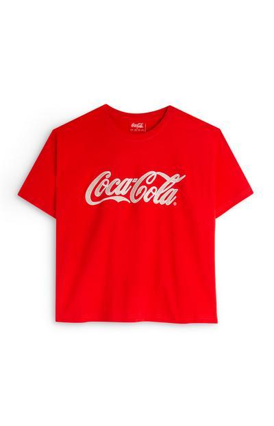 Red Coca Cola Crop Top