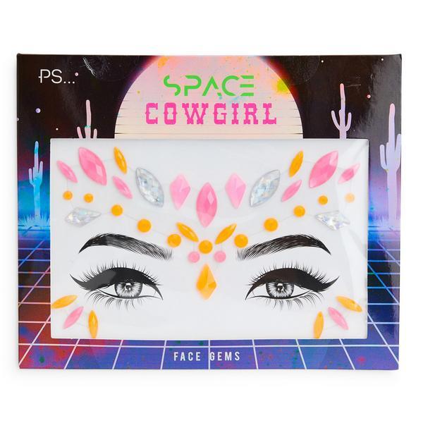 """""""PS Space Cowgirl"""" Gesichtsschmuck zum Aufkleben"""