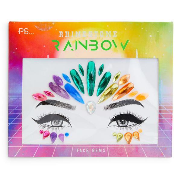 """""""PS Rainbow"""" Gesichtsschmuck zum Aufkleben"""