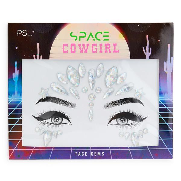Surtido de gemas faciales plateadas «Space Cowgirl» de PS