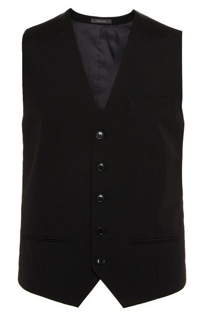 Black Button Up Waistcoat