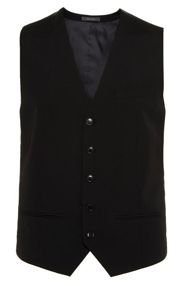 Black Buttoned Vest