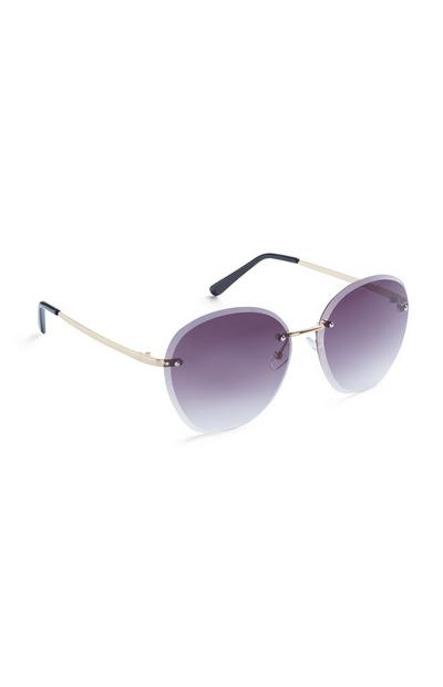 Purple Ombre Frameless Sunglasses