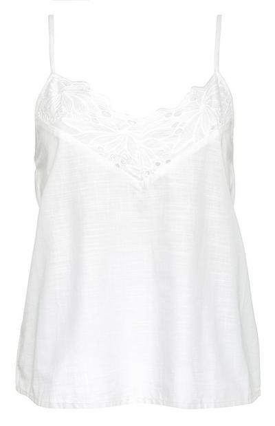 White Lace Trim Cami